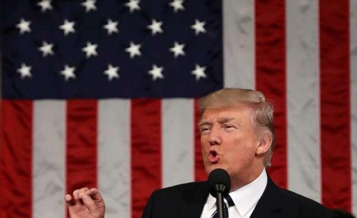 Fotografías del discurso de Trump ante el congreso de EE:UU