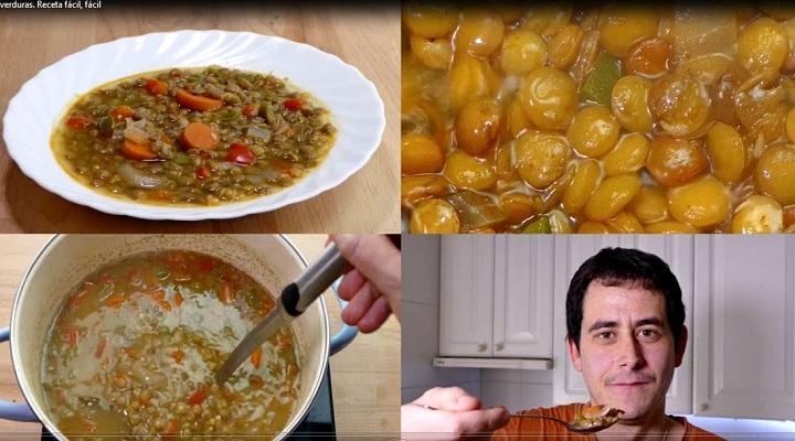 Presentación de las Lentejas con verduras